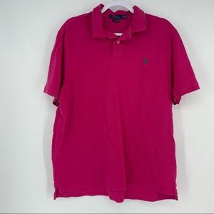 POLO Ralph Lauren Classic Fit Pink Polo Shirt